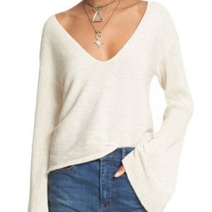 Free People Starman Ribbed Knit Pullover Sweater